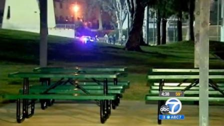 Benches are shown at Reggie Rodriguez Park in Montebello.