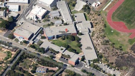 Malibu High School is seen in this satellite image from Google.