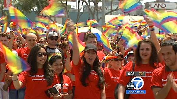 Pride Parade draws big crowds to WeHo
