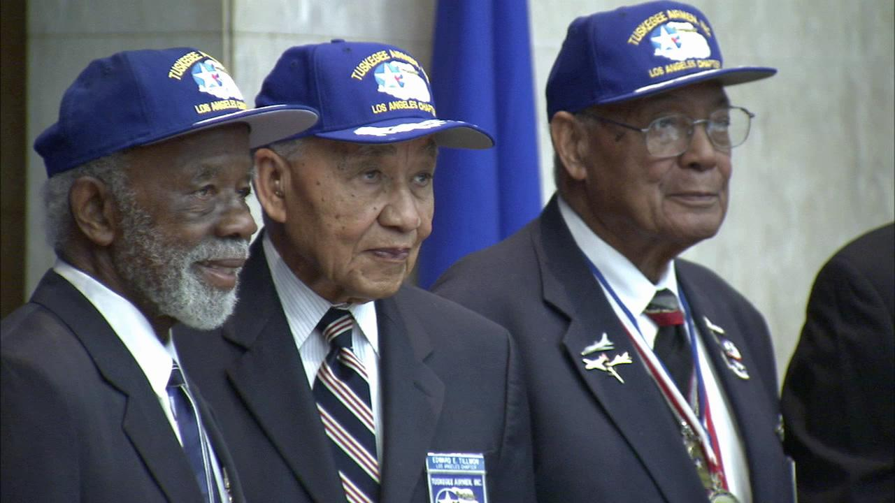 Members of the Tuskegee Airmen were honored for their heroic service in World War II by the Los Angeles County Board of Supervisors on Tuesday, June 19, 2012.