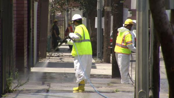 Downtown LA's Skid Row gets scrubbed down