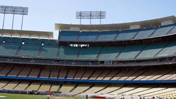 Dodger Stadium is the second most checked-in place on Facebook's 2012 list of Los Angeles' most popular places for social networking.