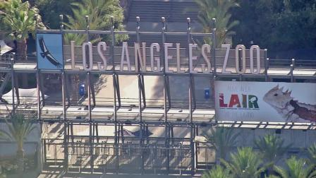 The entrance to the Los Angeles Zoo is seen in this file photo from Tuesday, June 26, 2012.