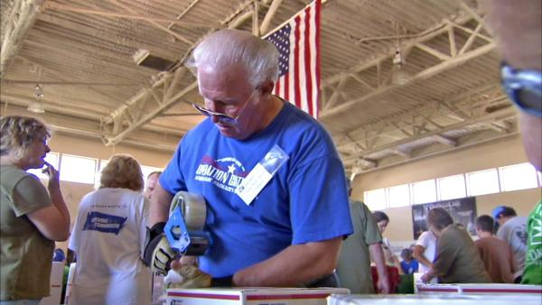 Operation Gratitude makes packages for troops