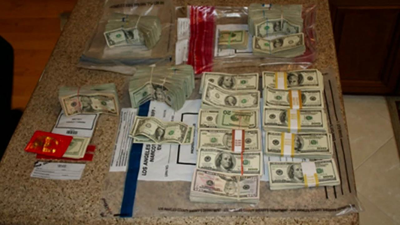 Los Angeles County deputies made a big bust on Monday, July 2, 2012, seizing nearly $2 million worth of counterfeit cigarettes and Viagra pills.