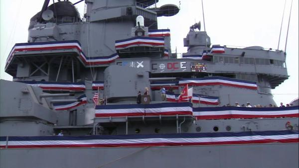 USS Iowa officially commissioned at new home