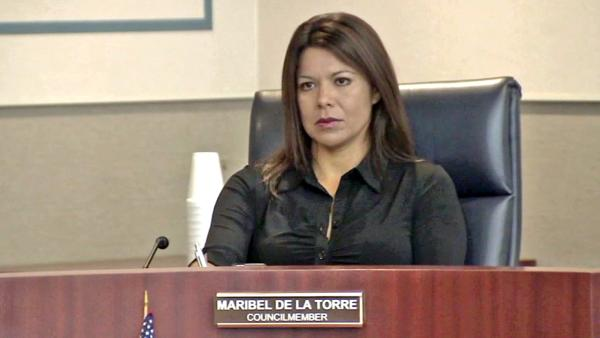 Battery charge for San Fernando councilwoman
