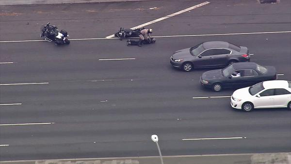 RAW: CHP arrests motorcycle pursuit suspect