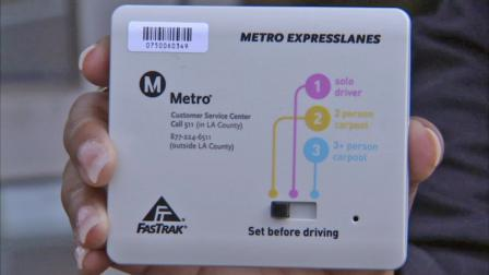 A FasTrak transponder is seen on Wednesday, July 25, 2012.