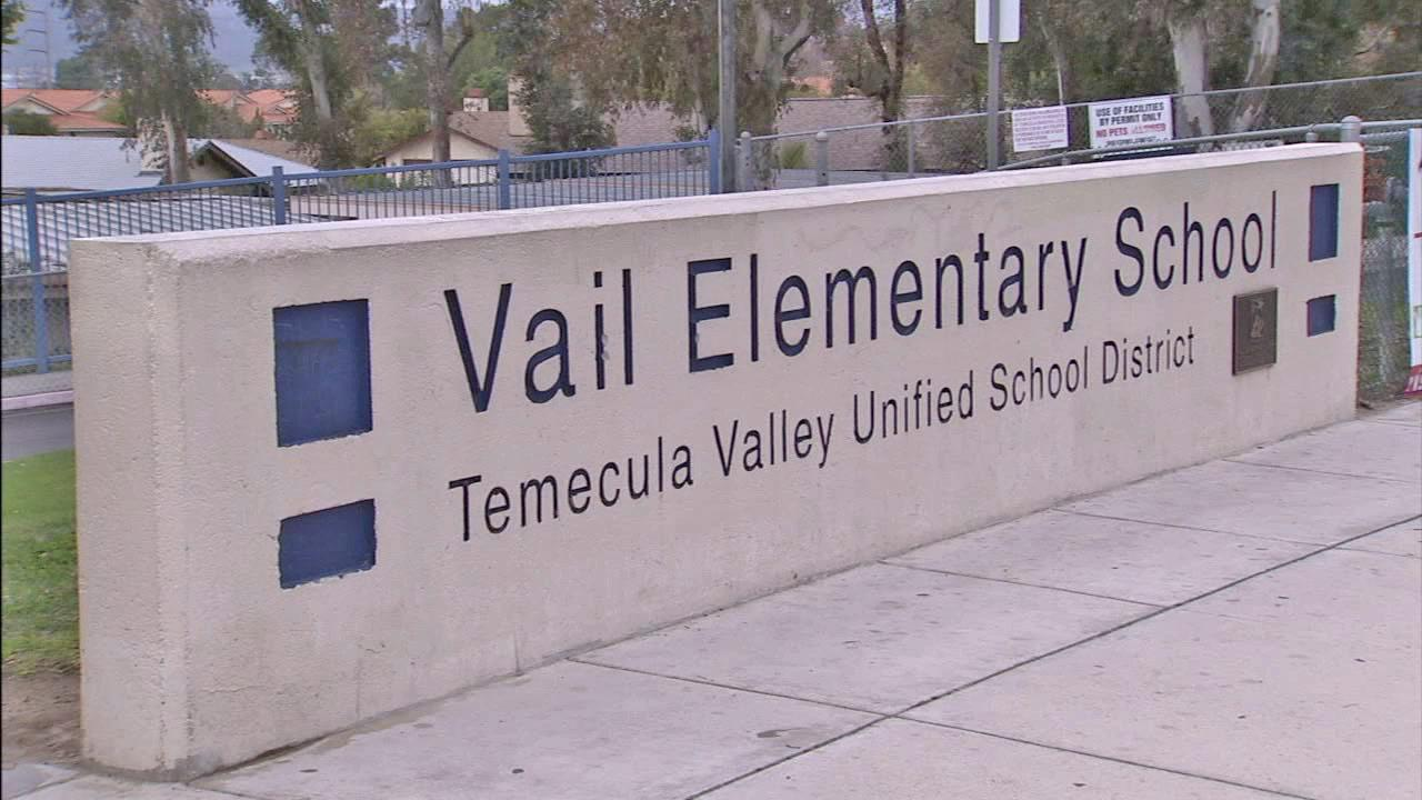 Vail Elementary School in Temecula is seen in this undated file photo.
