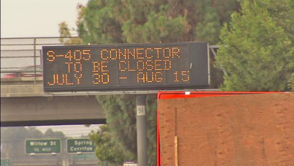SB I-605 to SB I-405 closure starts Monday