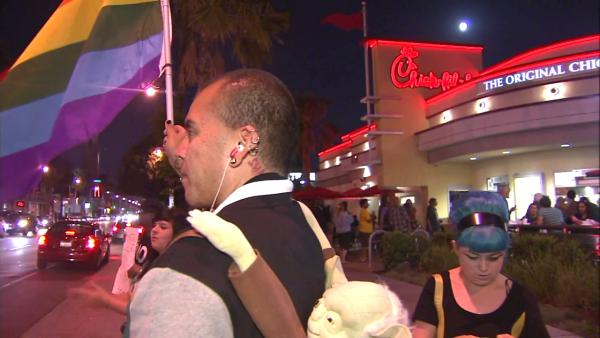 Chick-fil-A receives support amid protests
