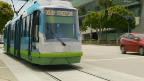 Downtown LA streetcars tax to be on ballot