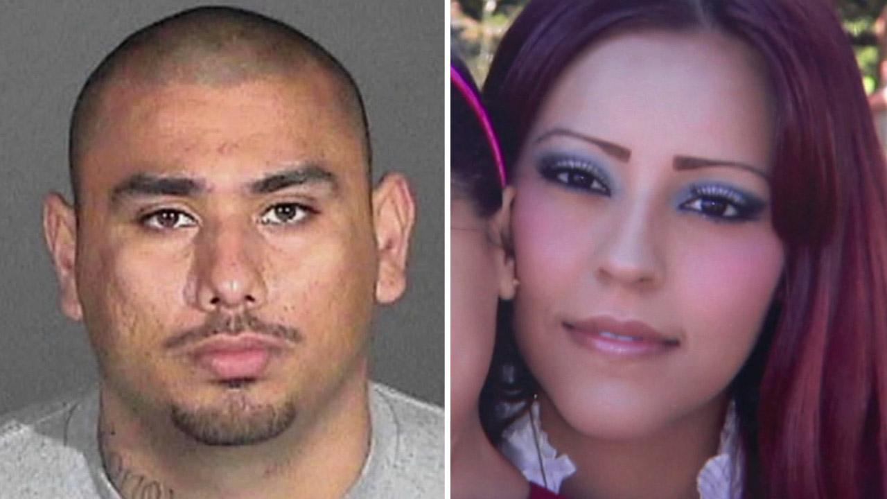 Marcos Gustavo Zermeno (left) was wanted in the murder of his longtime girlfriend, Eleonora Rivera Hidalgo. Hildalgo was found shot dead in a car outside the couples home in Long Beach on Saturday, Aug. 4, 2012.