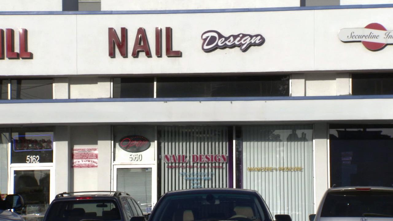 A Van Nuys nail salon, shown in this Aug. 9, 2012 image, was robbed by a pair of suspects, who are believed to have struck the same business before.