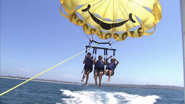 Parasailing is fun way to see SoCal coastline