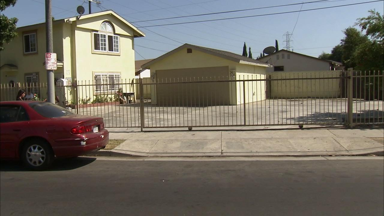A 19-year-old man was shot and killed on East Lanzit Avenue in South Los Angeles on Monday, Aug. 20, 2012.