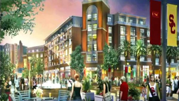 Neighbors divided over USC's proposed complex