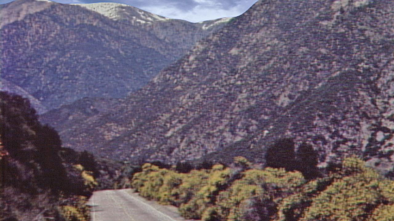 A road in the Angeles National Forest is shown in this undated file photo.