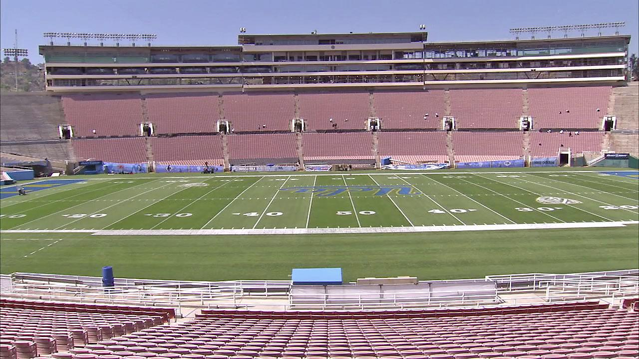 The Rose Bowl is seen in this photo after major renovations were completed in September 2012.