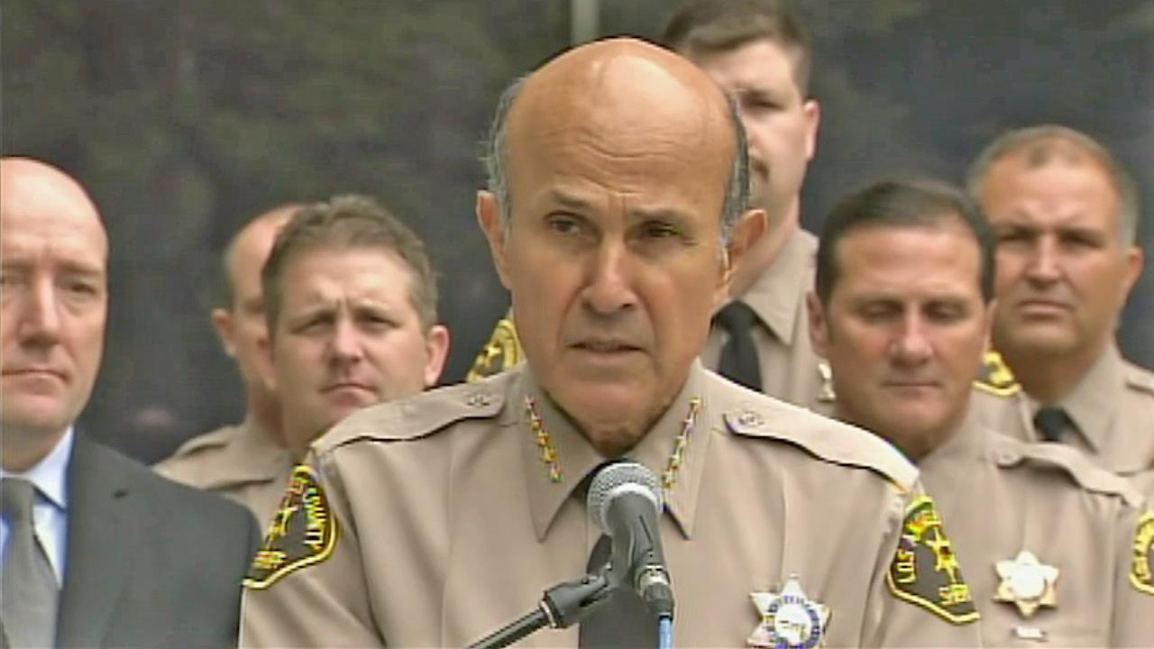LA County Sheriff Lee Baca appears in this undated file photo.