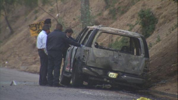 Body found in burned out SUV in Highland Park