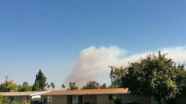 ABC7 viewer Armando Castillo sent us this picture via Twitter of smoke from the fire as seen from Reseda.