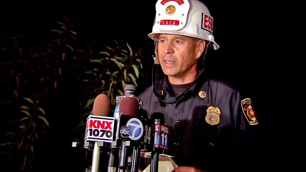 Crews monitor Sepulveda brush fire overnight
