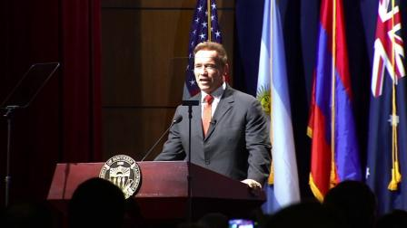 Arnold Schwarzenegger appeared at the University of Southern California on Monday to officially launch the USC Schwarzenegger Institute for State and Global Policy with a symposium on Monday, Sept. 24, 2012.