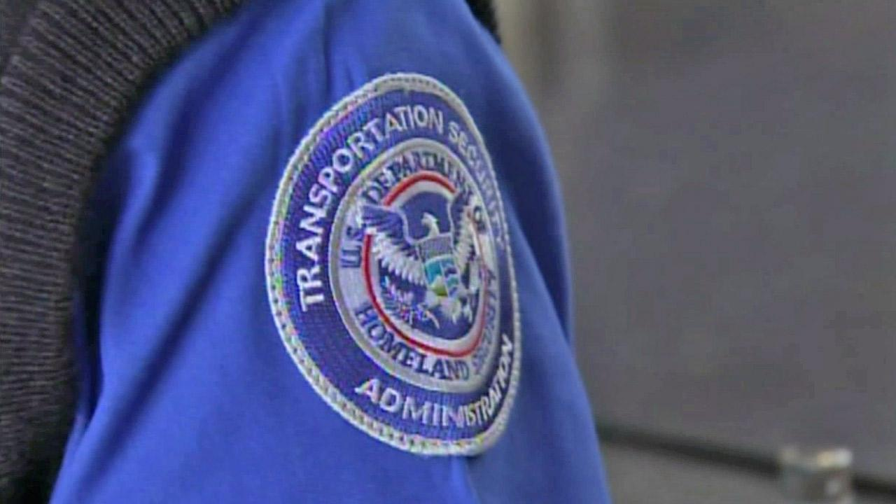 A TSA agents patch is shown in this undated file photo.