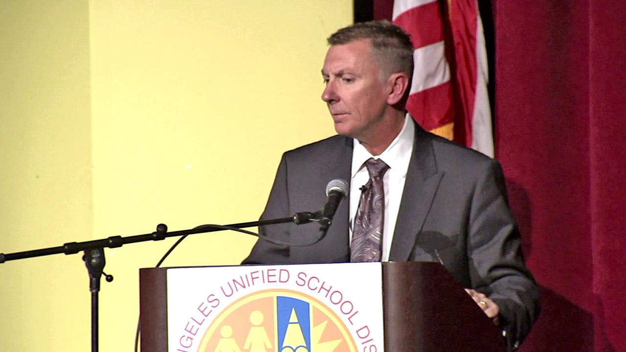 Los Angeles Unified School District Superintendent Dr. John Deasy delivers his State of the District address on Monday, Oct. 8, 2012.