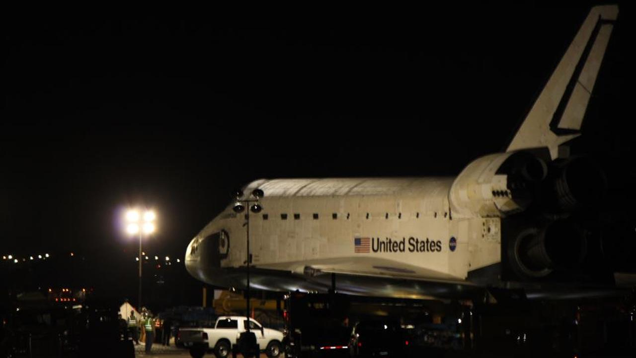 ABC7 viewer Cherrie Wong posted this photo on our Facebook page of space shuttle Endeavour on Friday, Oct. 12, 2012.