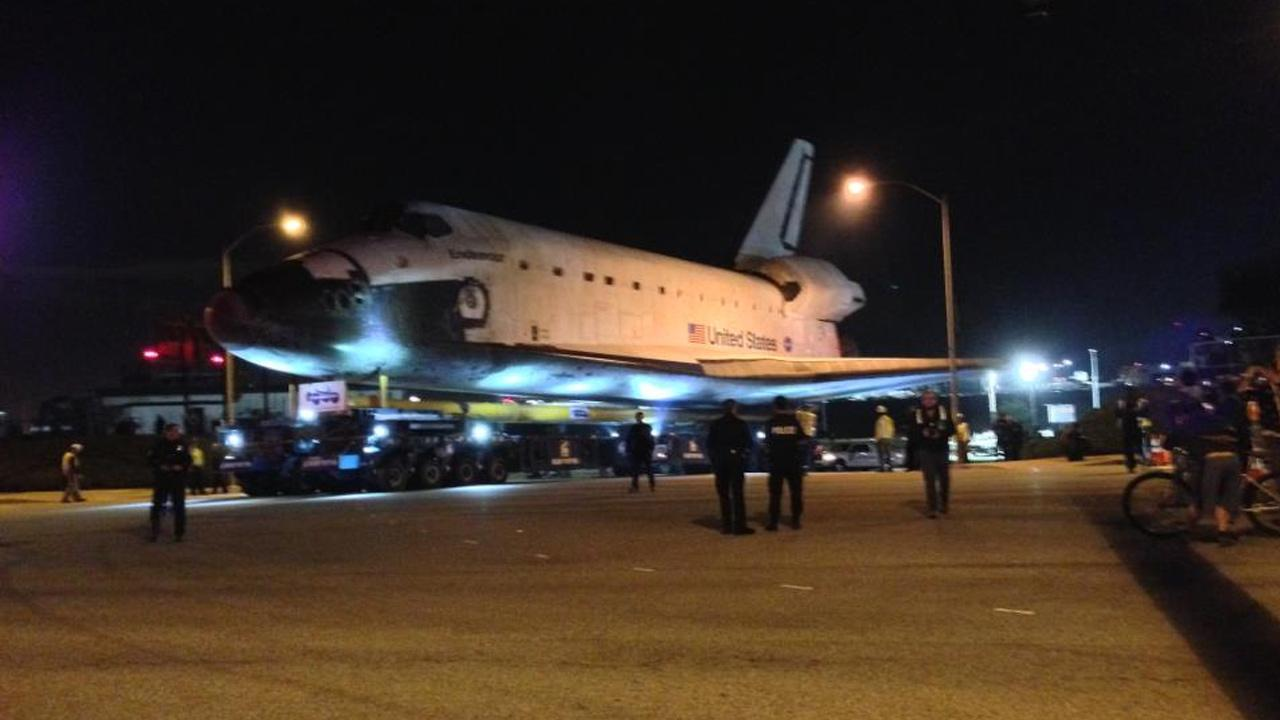 ABC7 viewer Victor Orly took this picture of space shuttle Endeavour leaving Los Angeles International Airport on Friday, Oct. 12, 2012.ABC7 viewer Victor Orly