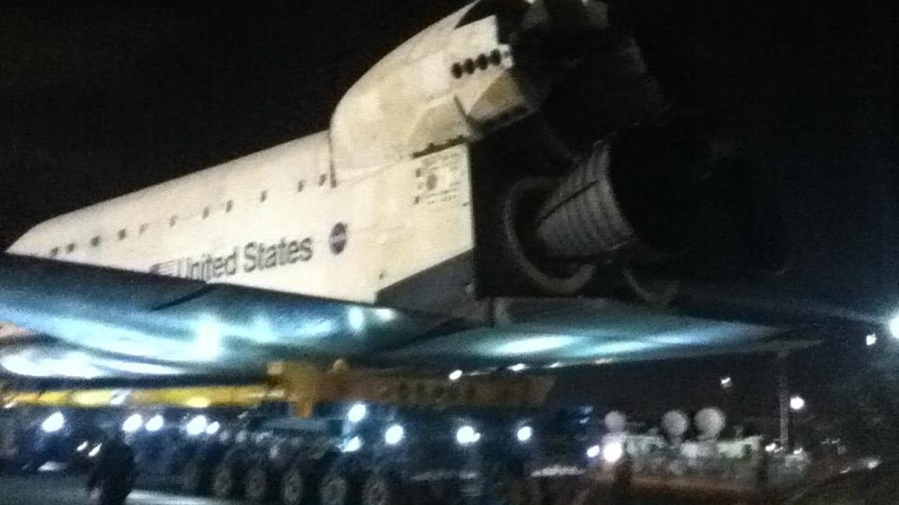 ABC7 viewer David Contreras took this picture of space shuttle Endeavour on Friday, Oct. 12, 2012. <span class=meta>(ABC7 viewer David Contreras)</span>