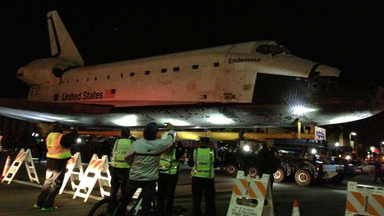 ABC7 viewer Ryan Uemura sent in this picture of space shuttle Endeavour on Friday, Oct. 12, 2012. <span class=meta>(ABC7 viewer Ryan Uemura)</span>