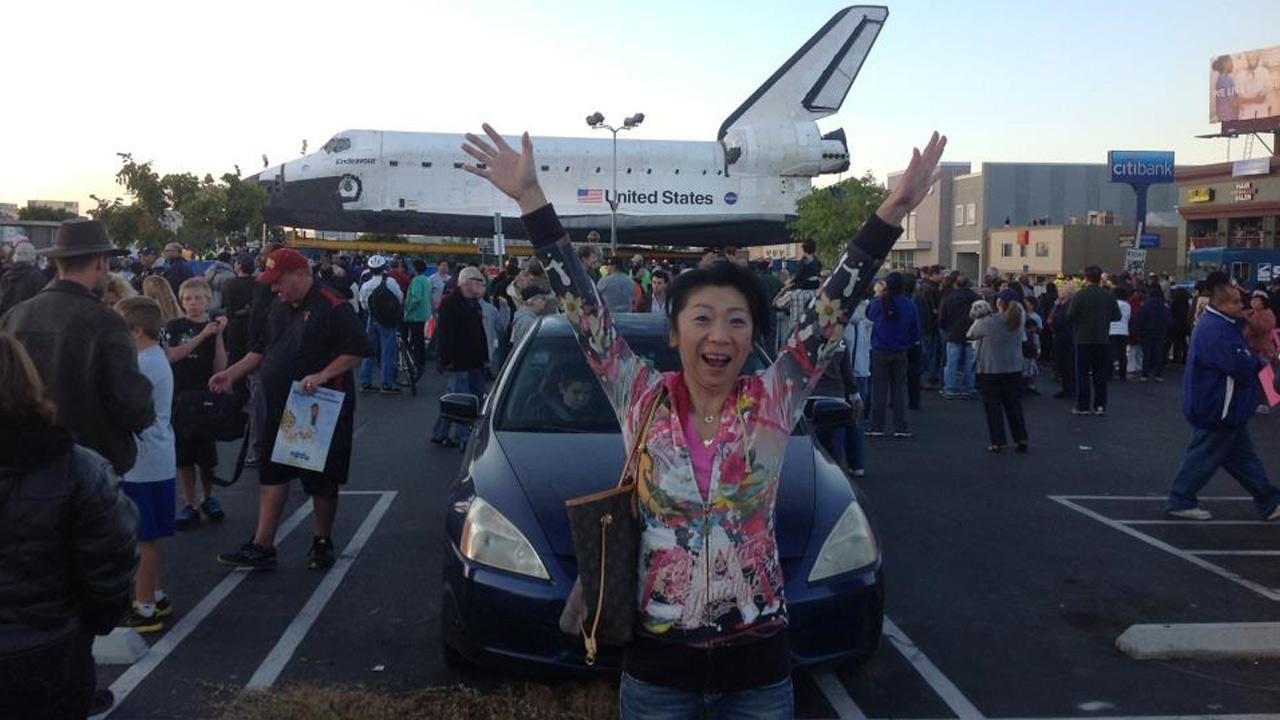 ABC7 viewer Masami Hashimoto took this picture of space shuttle Endeavour on Friday, Oct. 12, 2012.ABC7 viewer Masami Hashimoto