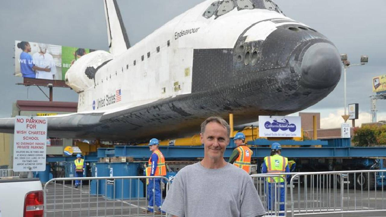 ABC7 viewer Michael Hall took this picture of space shuttle Endeavour on Friday, Oct. 12, 2012.ABC7 viewer Michael Hall