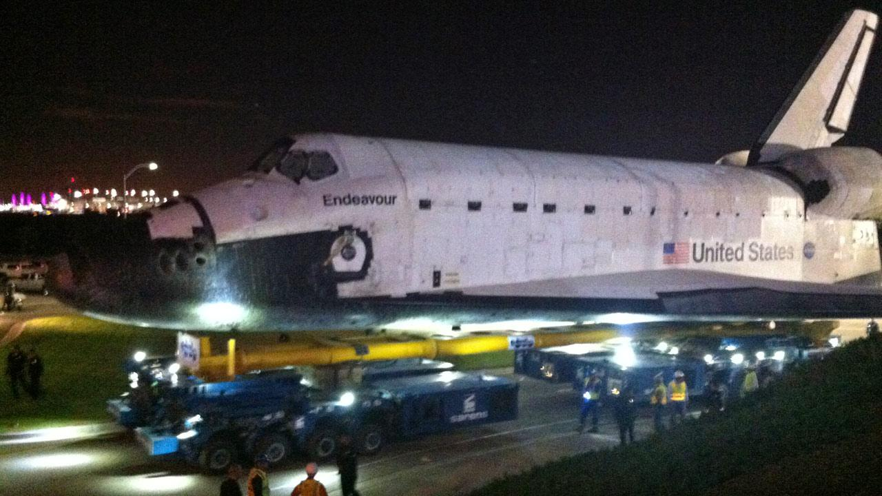 ABC7 viewer Lance Patrick took this picture of space shuttle Endeavour on Friday, Oct. 12, 2012. <span class=meta>(ABC7 viewer Lance Patrick)</span>