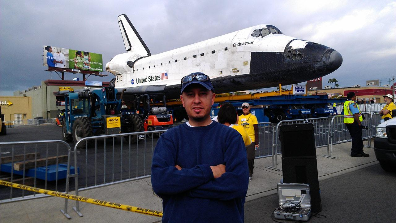 ABC7 viewer Ray Amador took this picture of space shuttle Endeavour on Friday, Oct. 12, 2012. <span class=meta>(ABC7 viewer Ray Amador)</span>