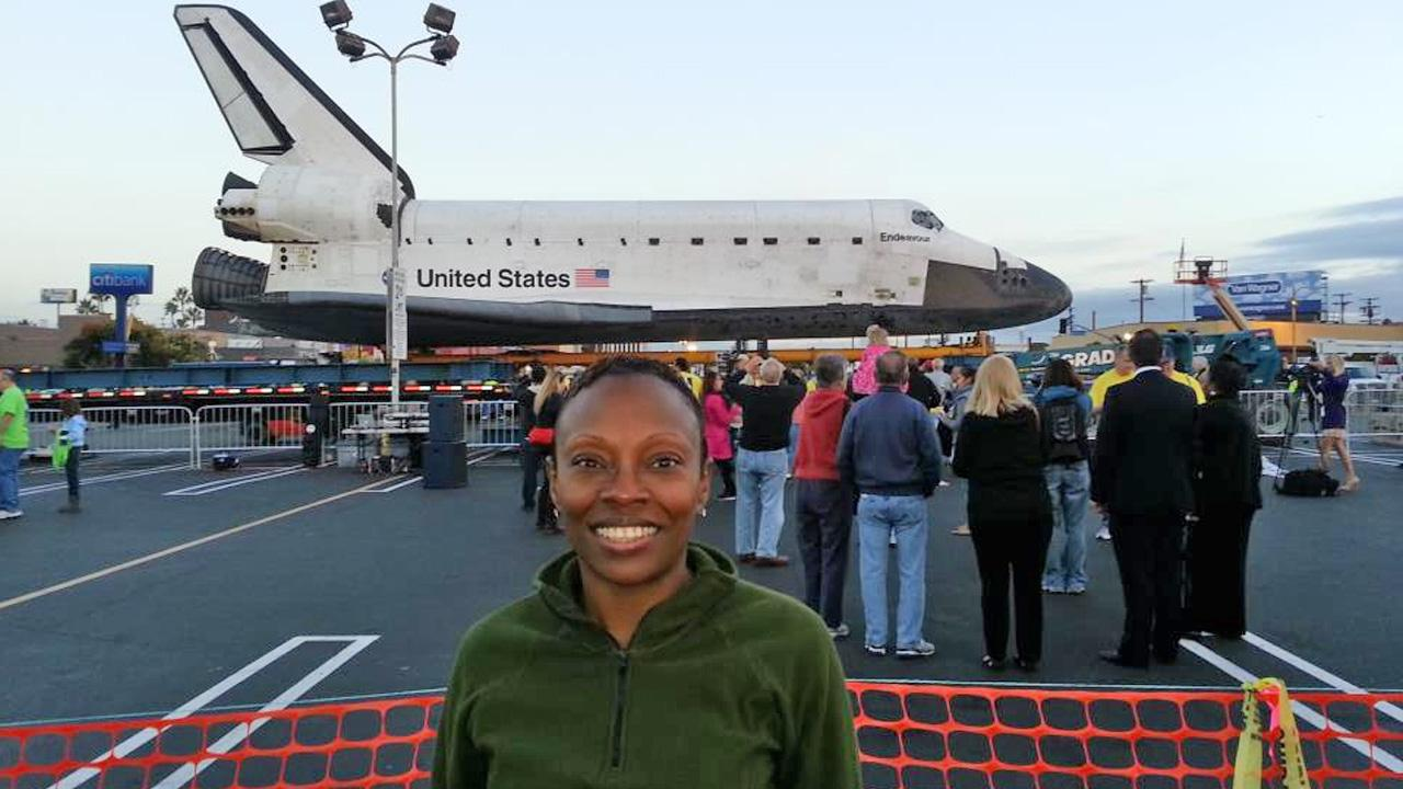 ABC7 viewer Yvette Davis took this picture of space shuttle Endeavour on Friday, Oct. 12, 2012. <span class=meta>(ABC7 viewer Yvette Davis)</span>