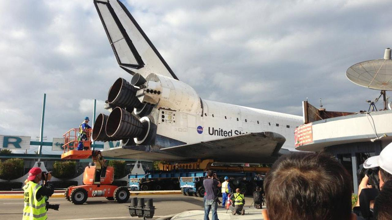 ABC7 viewer David H. Kishimoto took this picture of space shuttle Endeavour on Friday, Oct. 12, 2012. <span class=meta>(ABC7 viewer David H. Kishimoto)</span>