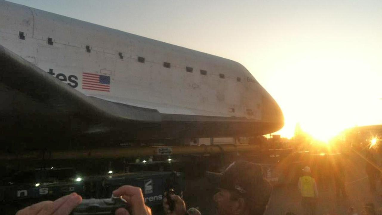 ABC7 viewer Matt Lowry took this picture of space shuttle Endeavour on Saturday, Oct. 13, 2012. <span class=meta>(ABC7 viewer Matt Lowry)</span>