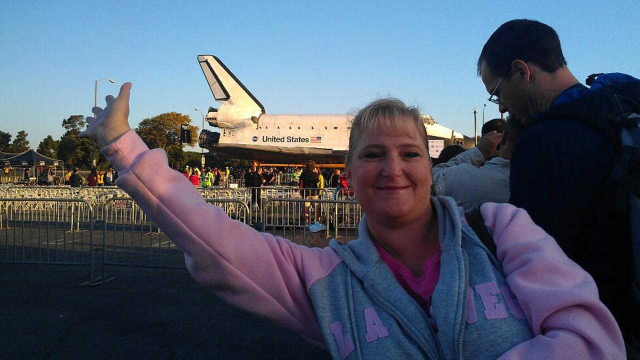 ABC7 viewer Stacy Brown took this picture of space shuttle Endeavour on Saturday, Oct. 13, 2012. <span class=meta>(ABC7 viewer Stacy Brown)</span>