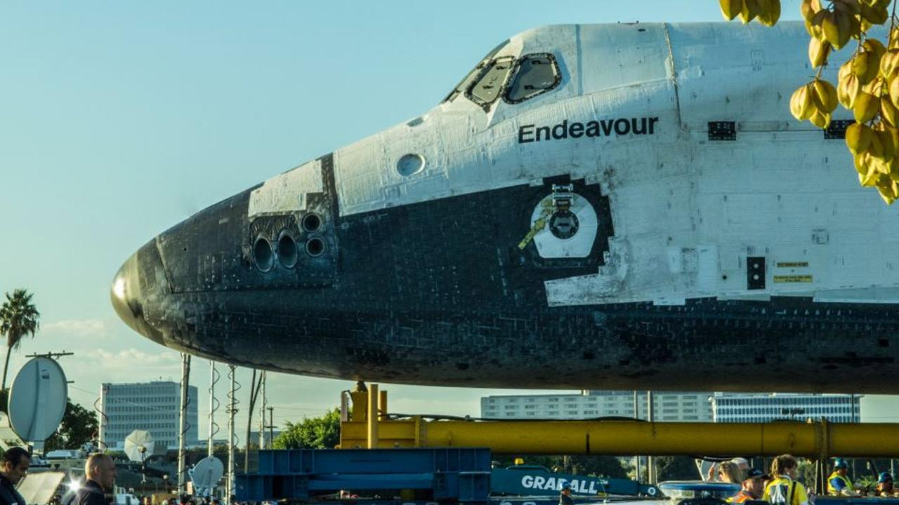 ABC7 viewer Mike Barbee took this picture of space shuttle Endeavour on Saturday, Oct. 13, 2012. <span class=meta>(ABC7 viewer Mike Barbee)</span>