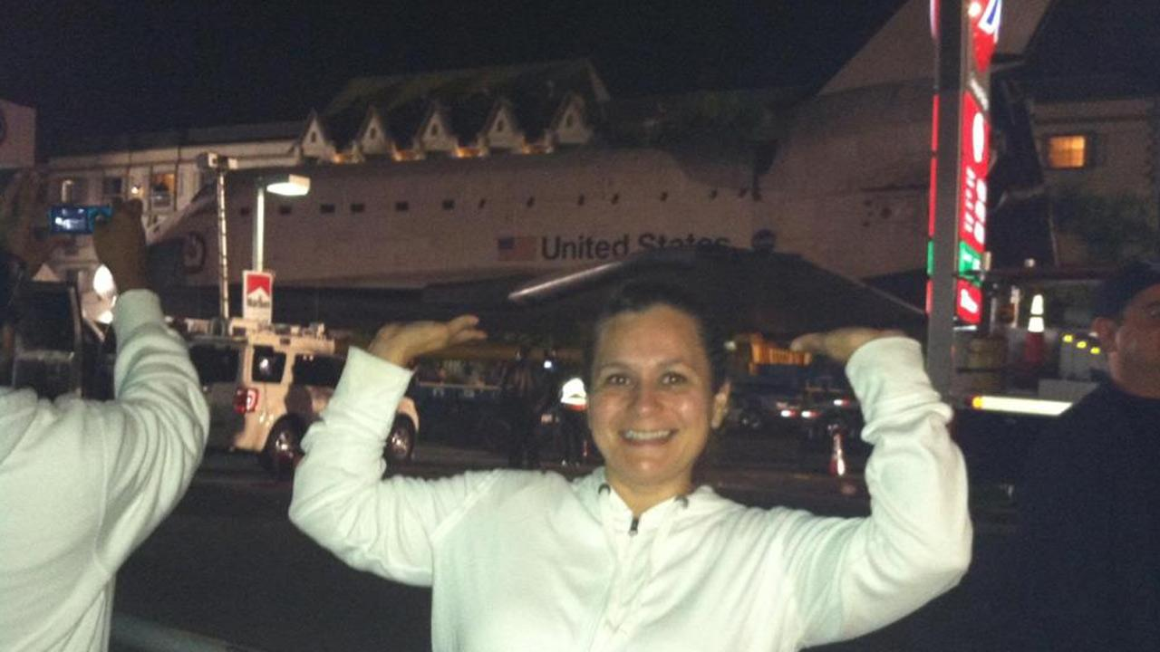 ABC7 viewer Francine Sandoval took this picture of space shuttle Endeavour on Saturday, Oct. 13, 2012. <span class=meta>(ABC7 viewer Francine Sandoval)</span>
