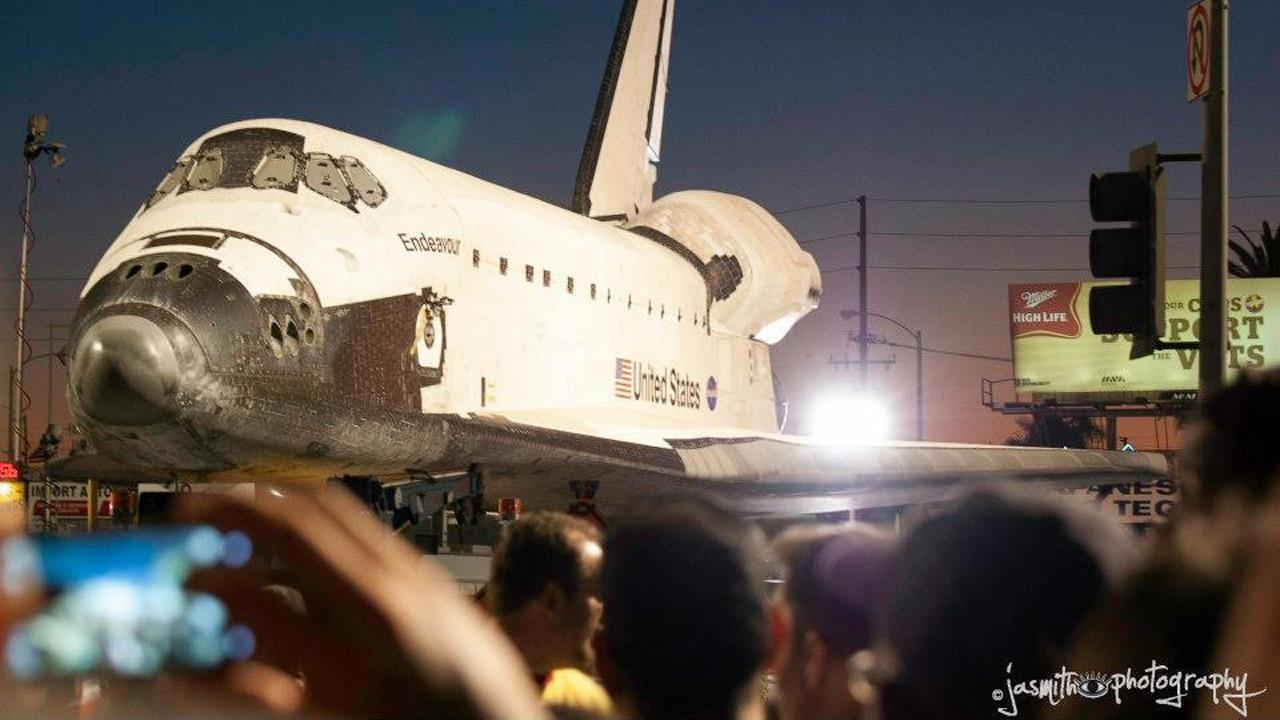 ABC7 viewer Jackie Smith took this picture of space shuttle Endeavour on Saturday, Oct. 13, 2012. <span class=meta>(ABC7 viewer Jackie Smith)</span>