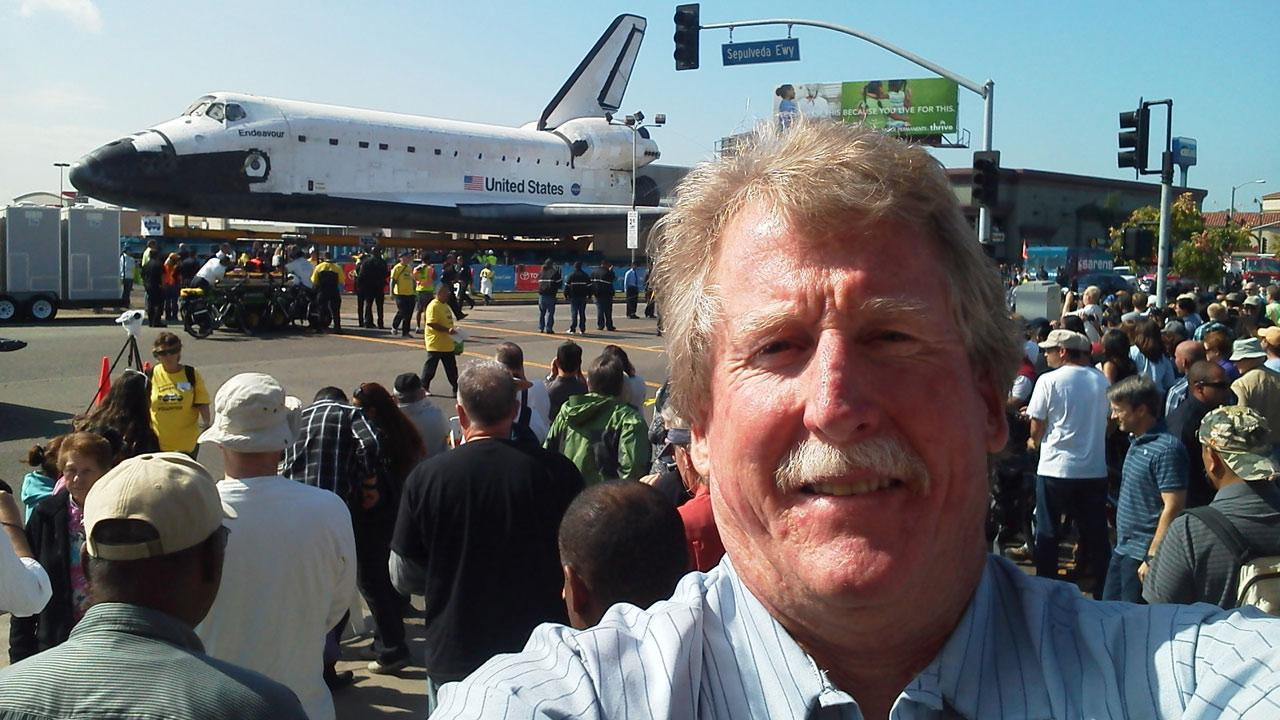 ABC7 viewer Kevin Oules took this picture of space shuttle Endeavour on Saturday, Oct. 13, 2012. <span class=meta>(ABC7 viewer Kevin Oules)</span>