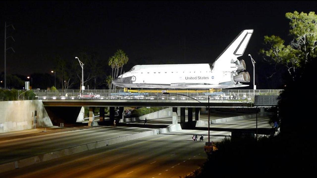 ABC7 viewer Jimmy Shaw posted this photo on our Facebook page of space shuttle Endeavour on Friday, Oct. 12, 2012. <span class=meta>(ABC7 viewer Jimmy Shaw)</span>