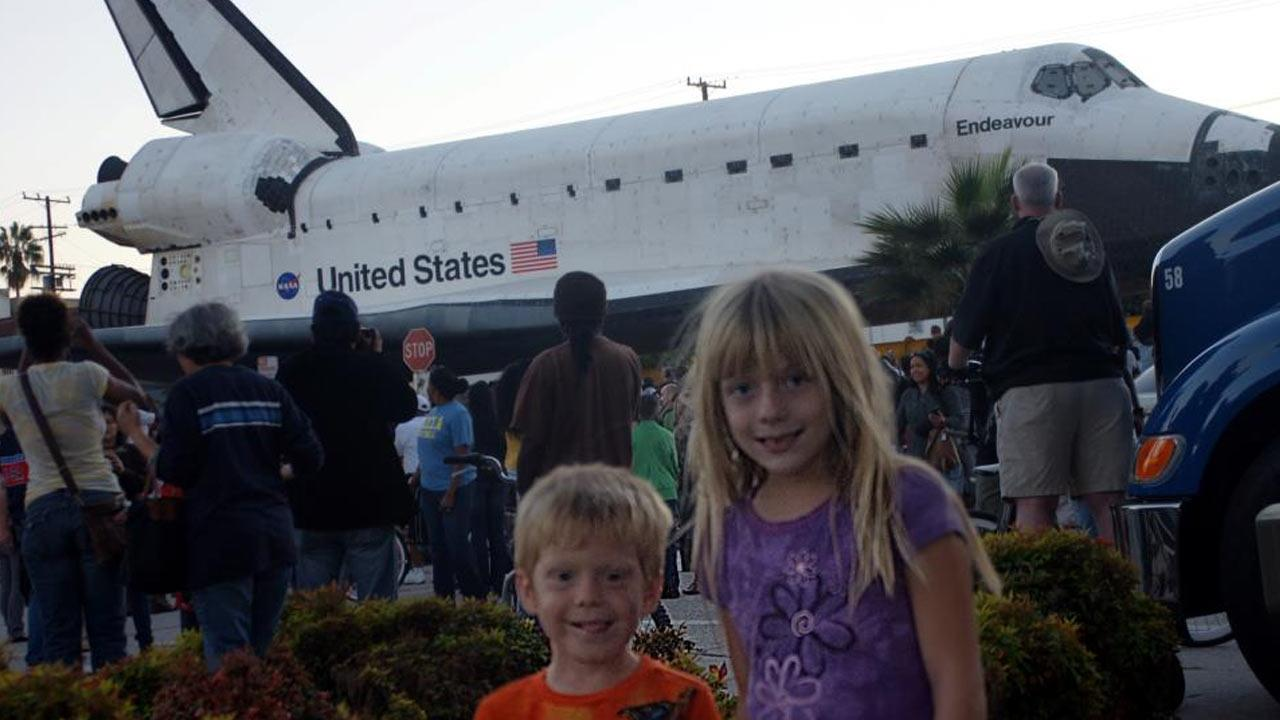 ABC7 viewer Terry Erwin took this picture of space shuttle Endeavour on Saturday, Oct. 13, 2012. <span class=meta>(ABC7 viewer Terry Erwin)</span>