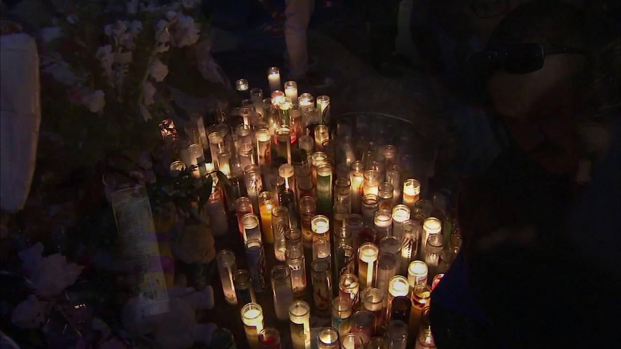 A candlelight vigil was held Wednesday, Oct. 24, 2012, for the victims of a shooting rampage in Inglewood. On Saturday, Oct. 20, 2012, a family was the target of a shooting rampage that left the father, Filimon Lamas, 30, and his 4-year-old son dead.